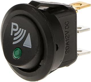 Sharplace 2 Pcs 3 Posizione 6 Pin Momentaneo Interruttore a Pulsante ON-OFF-On 12V per Barca Auto Rosso Blu