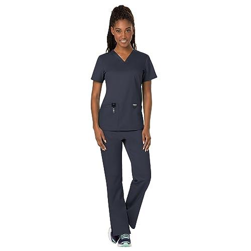 2fd7ff9ba04 Cherokee Workwear Revolution Women's Scrub Set Bundle - WW620 V-Neck Top &  WW110 Pull