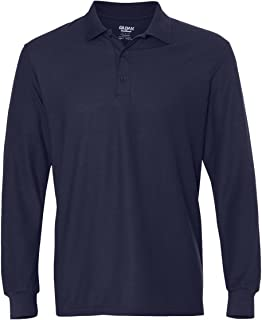 G729 Men's Drybelnd Double Pique Long-Sleeve Polo