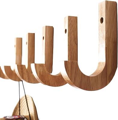 vidaXL Perchero con 7 ganchos de madera maciza reciclada ...