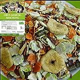 LuCano 5 kg Hunde Barf Ergänzungsfutter Obst + Gemüse Flocken mit Kräutern | glutenfrei -...