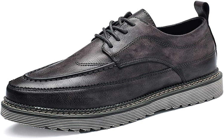 HhGold 2018 Männer Komfort Schnürung New Vintage Einfache Einfache Einfache Outsole Business Oxford Casual Formelle Schuhe (Farbe   Schwarz, Größe   43 EU) (Farbe   Grau, Größe   44 EU)  a13c3d
