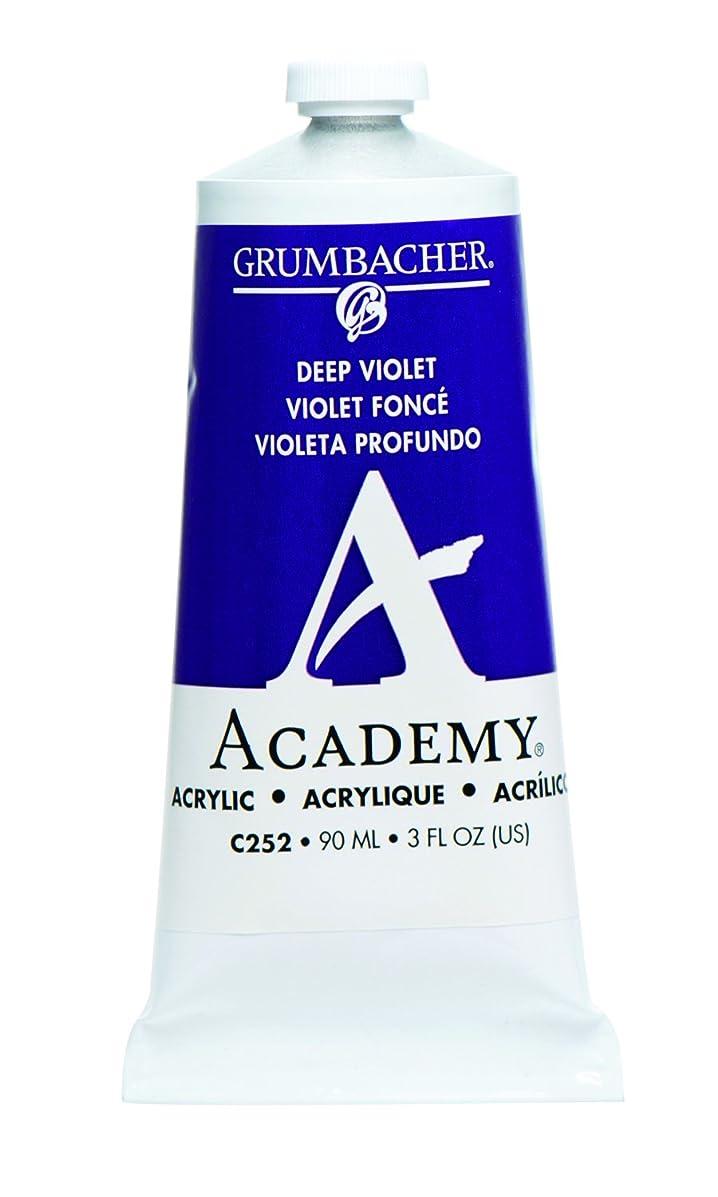 Grumbacher Academy Acrylic Paint, 90ml/3 oz Metal Tube, Deep Violet