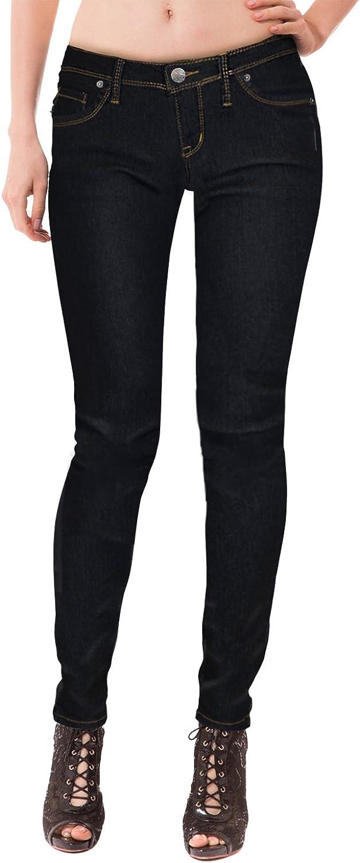 Womens Super comfy stretch denim 5 Pocket Jean P22881SK BLACK 1