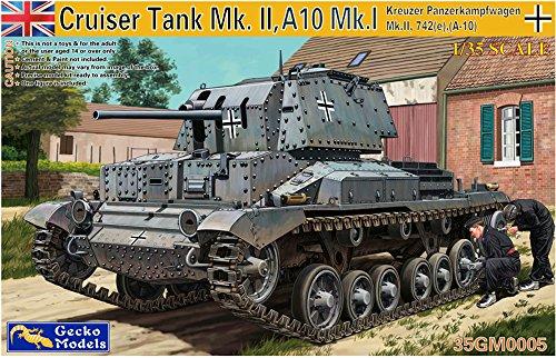 Gecko Models 35gm000535gm0051/35Kreuzer Panzer M. II SD Coche 742(S) A10, Gris