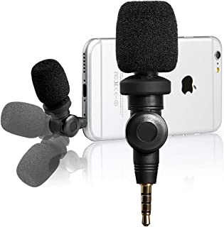 Flexible Condenser Microphone for iPhone 11 Vlog, Saramonic Mic with High Sensitivity for Apple iOS iPhone X 8 7 6 iPad Podcast YouTube Facebook Livestream (3.5mm TRRS)
