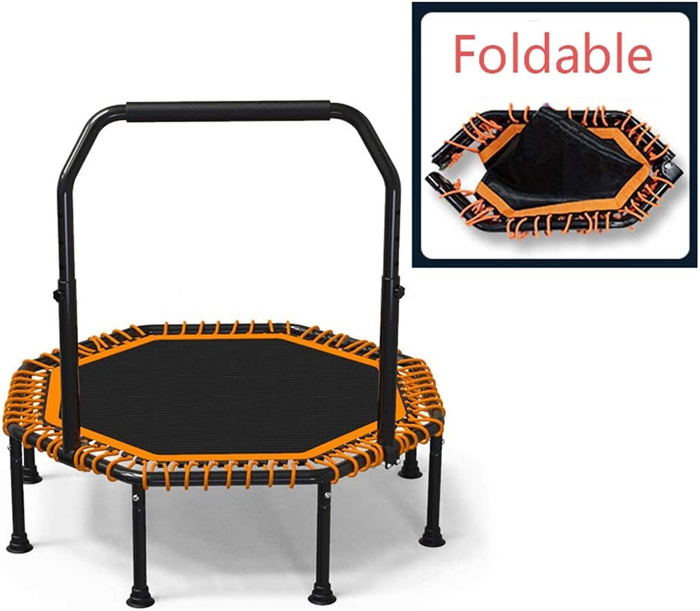 SHIJINHAO スポーツトランポリン 室内、折り畳み可能 ミュート 弾性ロープ 8本脚チューブ ジム 保管が簡単な、3スタイル (Color : オレンジ-B, Size : 118x32cm)
