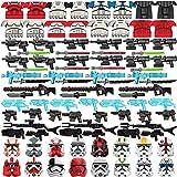 Mocdiy Juego de 90 piezas de construcción de armas de soldados para minifiguras de Lego Star Wars