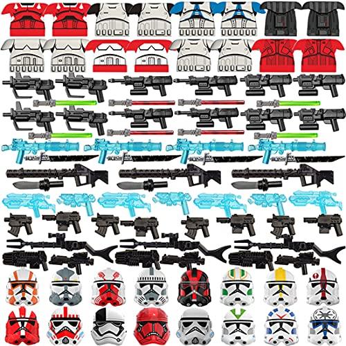 Design: questo è un set di armi militari appositamente progettato per tutte le marche di minifigure da costruzione. Età consigliata: 8+ Caratteristiche: le minifigure armi e mute di armatura in stile science includono caschi, visiere, spade lunghe, p...