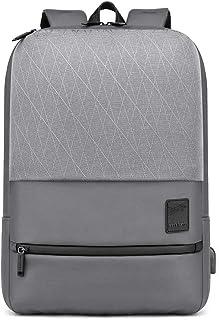 Rog - Mochila para ordenador portátil (impermeable, con USB, tablet y portátil), color gris