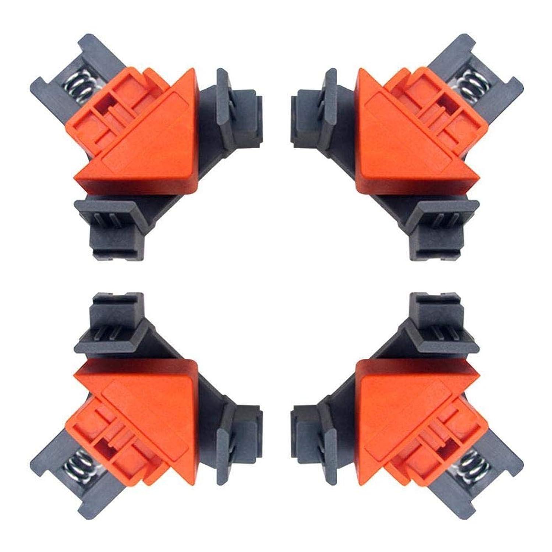 八百屋母音機関車多機能アングルクランプ、90°直角クリップフィクサー、ABS素材木工コーナークリップ、木工用多機能ツール、キャビネットおよび家具修理接続(1セット)