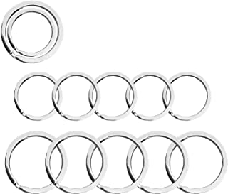 Key Rings, Keychain Rings, Rustproof Split Keyrings for Keychains, Home Car Keys, Lanyards, Dog Tag Ring, Crafts Accessori...