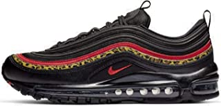 Women's Air Max 97 Black/University Red/Print Leather Casual Shoes 7.5 M US