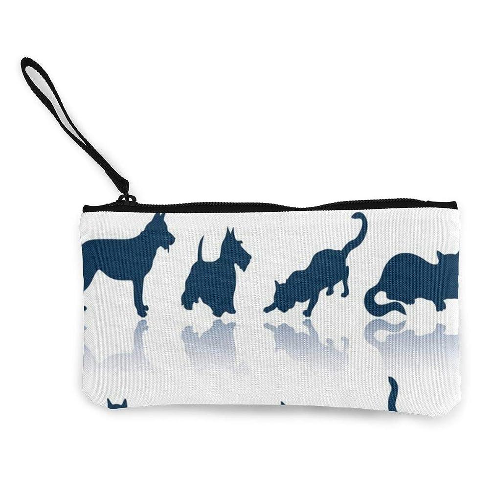 鹿教育者恐怖症ErmiCo レディース 小銭入れ キャンバス財布 のんびりした犬 小遣い財布 財布 鍵 小物 充電器 収納 長財布 ファスナー付き 22×12cm