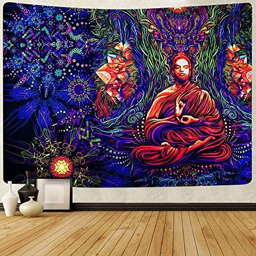 DIY Pintar por números Chakra Yoga Meditación Mandala colorida Decoración Pintura lienzo de pintura digital Adecuado para la decoración de la sala de estar para niños, estudia50x60cm(Sin marco)