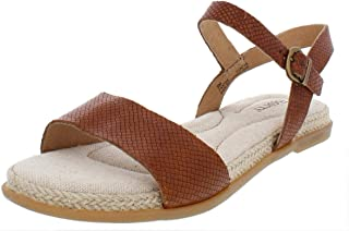 Born Womens Welch Leather Open Toe Casual Slingback Sandals