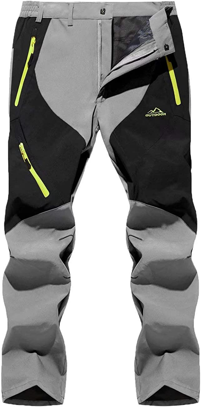 MAGCOMSEN Men's Water Resistant Hiking Pants Softshe Zip 送料無料 至高 Pockets