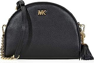 72a8f1ab412a Michael Kors Ginny Pebbled Leather Half-Moon Crossbody Bag- Black