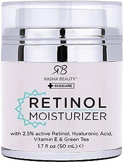 Radha Beauty Retinol Moisturizer Miracle Cream for Face – with Retinol, Hyaluronic..