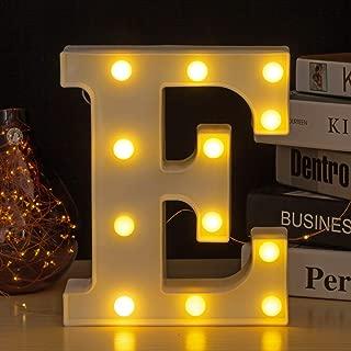 Youzone LED Marquee Letters Plastic LED Letter Lights Alphabet Light Up Sign Decoration Letters A - Z Symbol & (E)