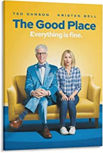 The Good Place TV Show Poster Wc Print on Canvas Painting Wall Art for Living Room Home Decor Boy Gift 08×12inch(20×30cm)