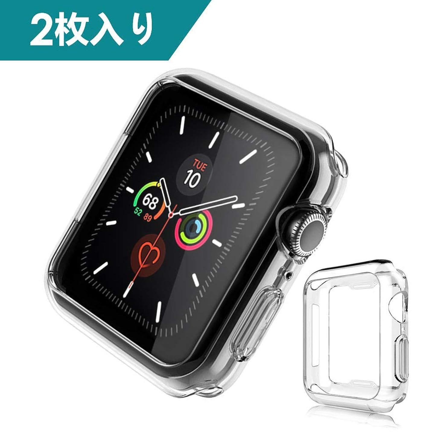 剃る売るアフリカ人Dalinch Apple Watch 44mm ケース Apple Watch ケース 二個セット 衝撃防止 本体保護 装着簡単 水防止 TPU周り保護ケース For Apple Watch Series 4 (2枚) …