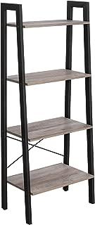 VASAGLE ALINRU Ladder Shelf, 4-Tier Bookshelf, Free Standing Storage Shelves, Stable..