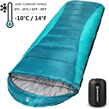 Bessport Sleeping Bag Winter | 14℉/-10℃ Extreme 3-4 Season Warm & Cool Weather Adult Sleeping Bags Large | Lightweight, Waterproof for Camping, Backpacking, Hiking