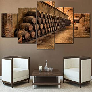TUMOVO Mookou Red Wine Paintings HD Prints on Canvas, Artwork-32, 60''W x 32''H