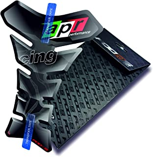 Motorcycle Gas Protector Sticker / 3D Rubber Fuel Tank Pad Tankpad Protector Decal for Aprilia Rs-4 Rs4 Rs 4 Rsv-4 Rsv4 Rsv Tuono 125 Touno125 Shiver Rs-50 Rs50 Rs-125 Rs250 Rsv1000 Mille (Black)