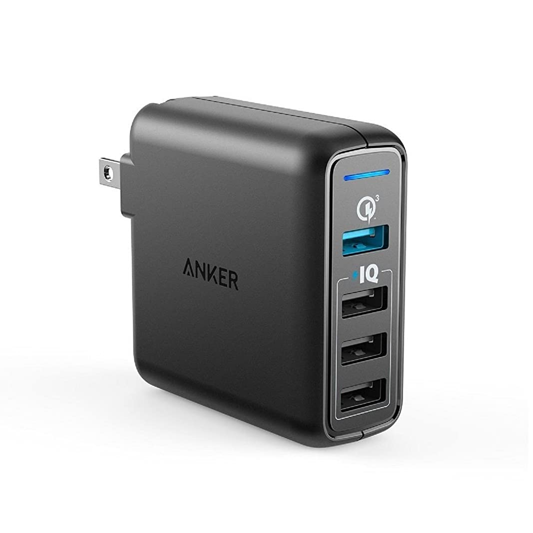 レーニン主義ダーツ刺すAnker PowerPort Speed 4 (4ポート 43.5W USB急速充電器)【PSE認証済 / PowerIQ搭載 / QC3.0対応 / 折たたみ式プラグ搭載】 iPhone, iPad, Galaxy S9, Xperia XZ1,その他Android各種対応