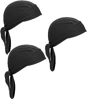 Wisolt Sports Bandana Cap, 3er Pack Mütze mit schweißableitender Mütze Kopfbedeckung Radfahren Motorradfahren Reiten Atmungsaktiv Bandana Mütze für Männer und Frauen