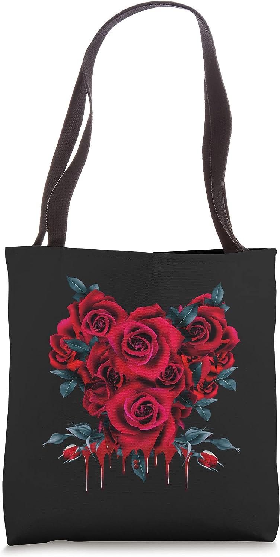 Soft Grunge Aesthetic Bleeding Red Roses Punk Nu Goth Tote Bag