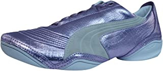 PUMA Scattista Exotic Womens Leather Trainers/Shoes - Violet
