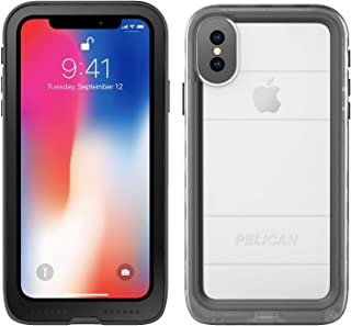 iPhone X Case | Pelican Marine Waterproof Case for iPhone X (Clear/Black)