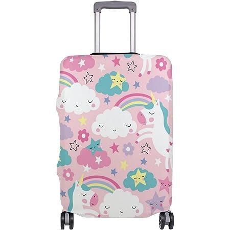 M for 22-25 Luggage OSVINO Luggage Cover Cartoon Cute Unicorn Durable Elastic Travel Suitcase Protector Unicorn A