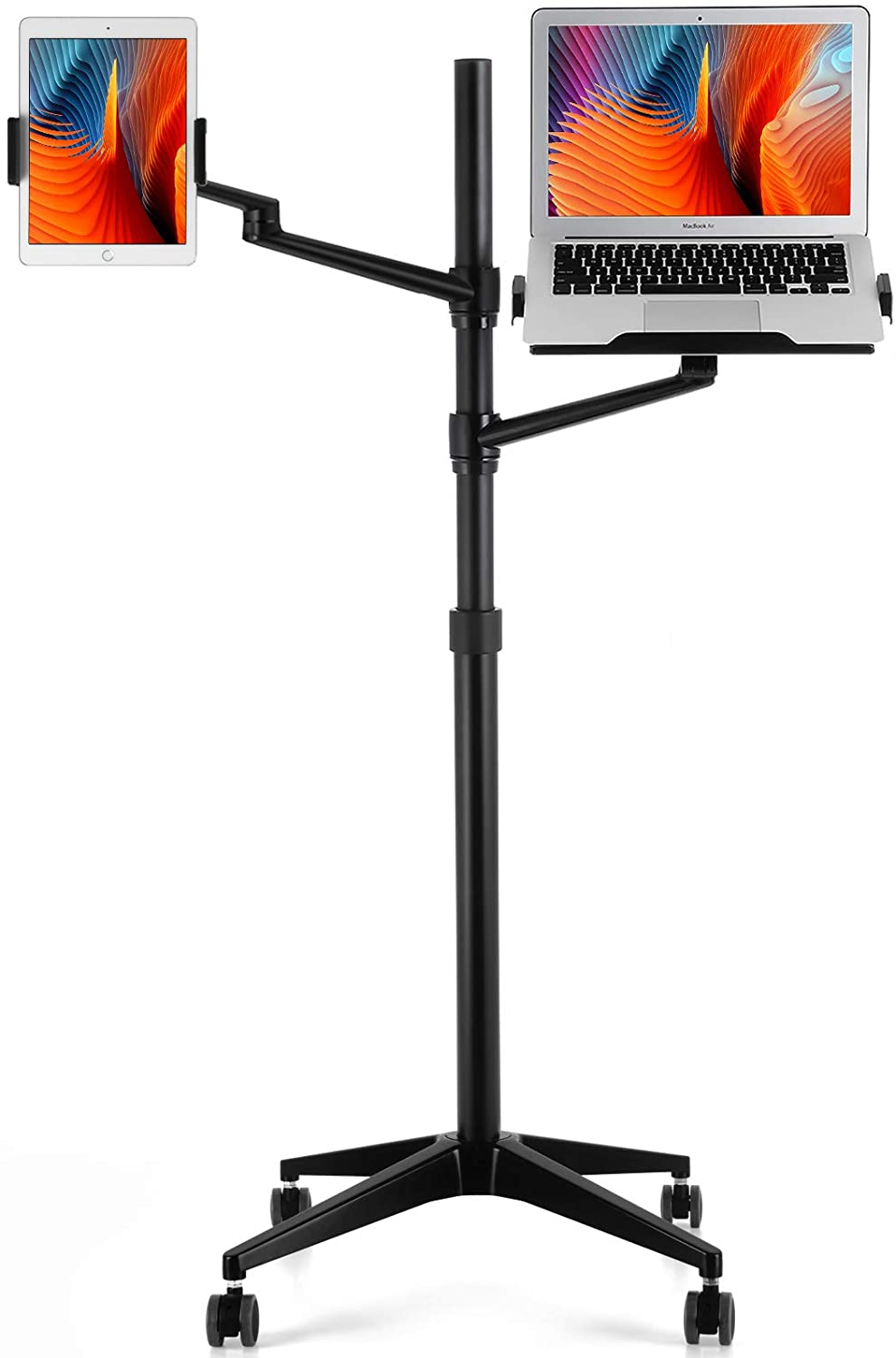 viozon Brand Cheap Sale Venue Tablet and Some reservation Laptop Floor Rolling 2-in-1 Stand Adjustable