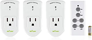BN-LINK Wireless Remote Control Electrical Outlet Switch for Lights, Fans, Christmas..
