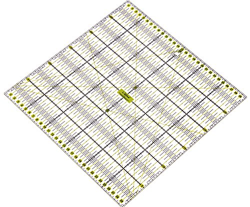 Lialina® Transparente Universal Patchwork de Regla 30 x 30 cm/Impresión 2 Colores cm líneas Raster 30/45/60 Grados ángulo de tamaño/Papel + Plástico Exakt con cúter cortan