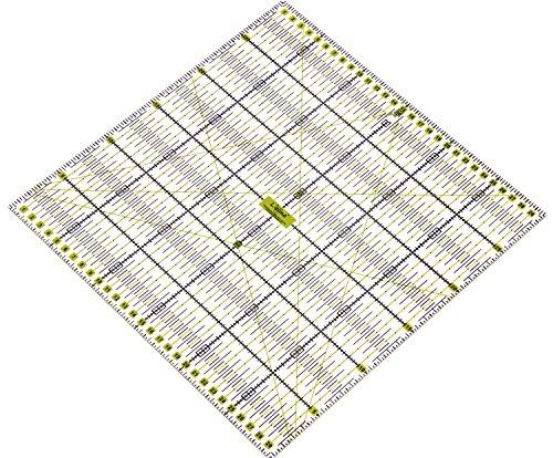 Lialina® Transparentes Universal Patchwork-Lineal 30 x 30 cm / 2farbiger Druck cm Linien Raster/Papier + Stoff exakt mit Rollschneider zuschneiden