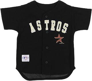 Mighty Mac Houston Astros MLB Little Boys Toddler Kids Vintage Baseball Jersey, Black