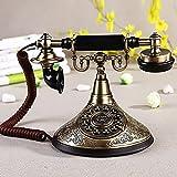 MMM- Teléfono Rústico Europeo Retro Home Office Botón Clásico Fijo