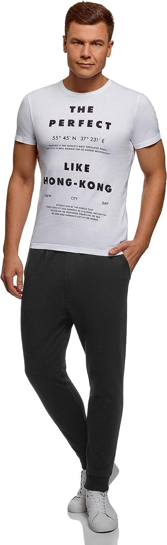 oodji Ultra Hombre Pantalones de Punto con Cordones