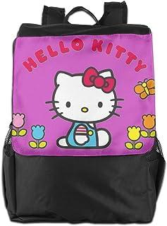 Mochila de viaje de Hello Kitty con flor, ligera, de poliéster, bolsa de viaje para hombres y mujeres