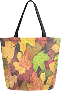 Womens Canvas Tote Bag Architecture Autumn Bridge Large Shopping Bag Shoulder Handbag