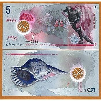 Maldives 5 Rufiyaa Polymer Note