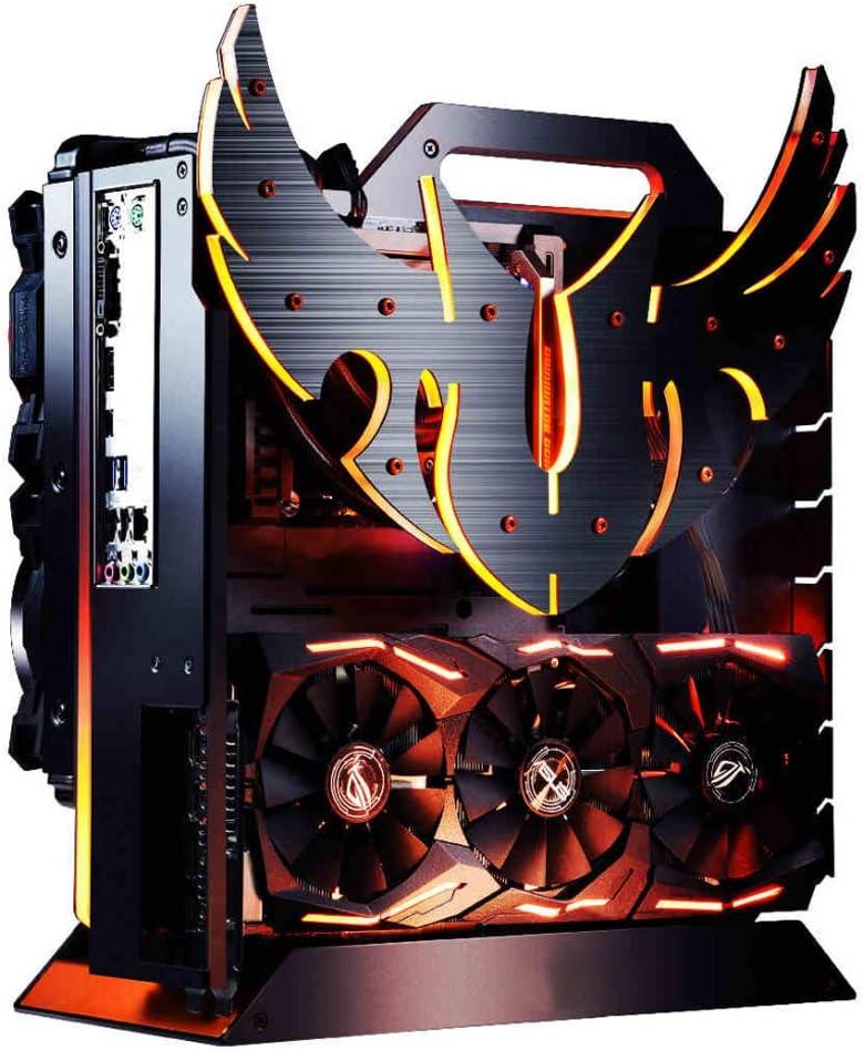 Angel look ATX Mini Tower Carcasa para computadora, con filtro de polvo - Panel de vidrio templado USB 3.0 - Carcasa para juegos de PC Administración de cables / flujo de aire decente