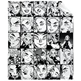 Natoio Demon Slayer-Rengoku Kyojuro-Collage Flannel Blanket,Printed Throw Air Conditioning Nap Blankets Soft Warm Comfort in Cold Winter Summer for Bed Couch Sofa Home Office Throw 60'x50'