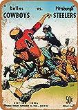 Dallas Cowboys First Game 1960 Metall Blechschild Retro