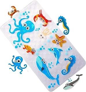 WoByt Multi-purpose Bath Mat/PVC Material Baby Tub Mat Non Slip Mats Children & Shower Bathroom Safety Pattern From Ocean Octopus